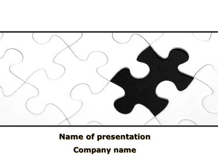 Last Step To Complete Puzzle PowerPoint Template, 09816, Business Concepts — PoweredTemplate.com