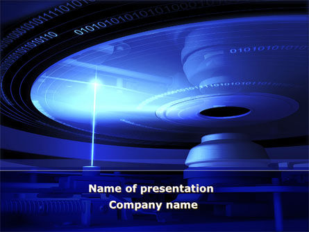 Compact Disk Player PowerPoint Template, 09817, Technology and Science — PoweredTemplate.com