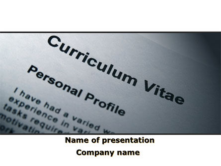 Ordinary Curriculum Vitae PowerPoint Template, 09823, Education & Training — PoweredTemplate.com