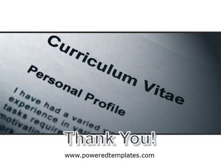 Ordinary Curriculum Vitae PowerPoint Template Slide 20
