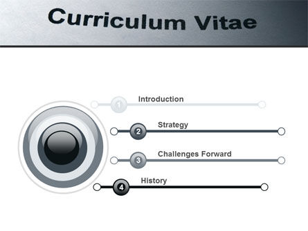 Ordinary Curriculum Vitae PowerPoint Template Slide 3