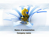 Financial/Accounting: Rise Of Dollar PowerPoint Template #09824