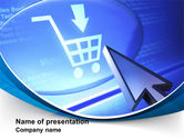 Business Concepts: Online Shopping Cart PowerPoint Template #09826
