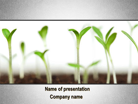 Garden Bed PowerPoint Template, 09829, Nature & Environment — PoweredTemplate.com