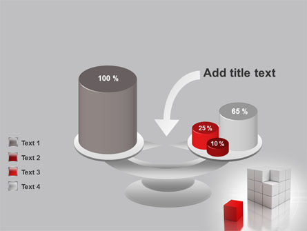 Red Part Of White Cube PowerPoint Template Slide 10