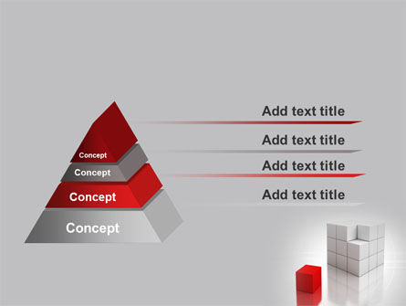 Red Part Of White Cube PowerPoint Template Slide 12