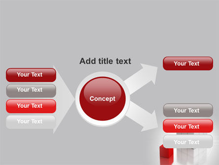 Red Part Of White Cube PowerPoint Template Slide 14