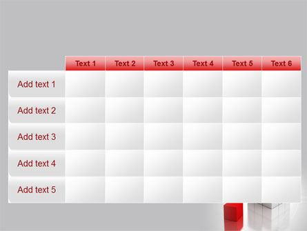 Red Part Of White Cube PowerPoint Template Slide 15