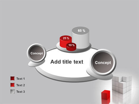 Red Part Of White Cube PowerPoint Template Slide 16