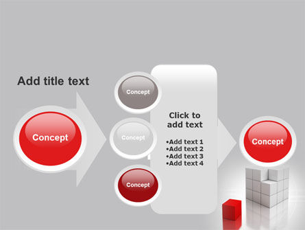Red Part Of White Cube PowerPoint Template Slide 17