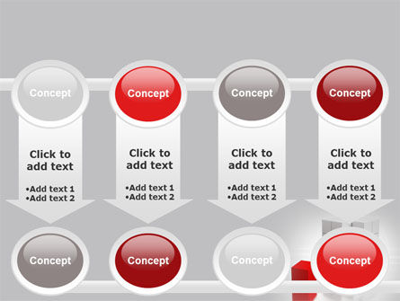 Red Part Of White Cube PowerPoint Template Slide 18