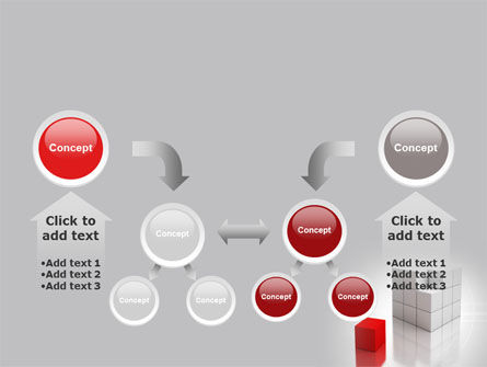Red Part Of White Cube PowerPoint Template Slide 19