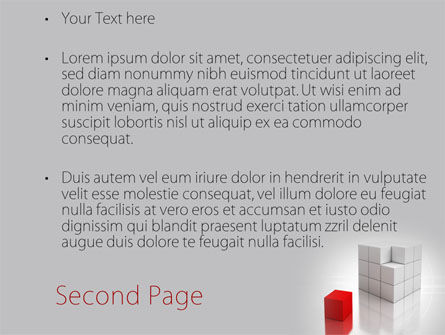 Red Part Of White Cube PowerPoint Template Slide 2