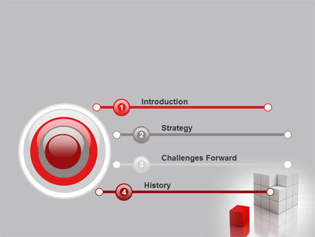 Red Part Of White Cube PowerPoint Template Slide 3