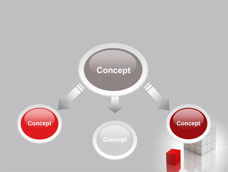 Red Part Of White Cube PowerPoint Template Slide 4