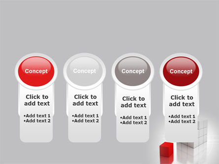 Red Part Of White Cube PowerPoint Template Slide 5