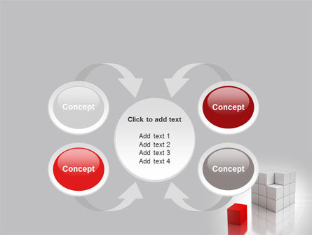 Red Part Of White Cube PowerPoint Template Slide 6