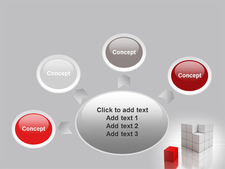 Red Part Of White Cube PowerPoint Template Slide 7