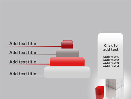 Red Part Of White Cube PowerPoint Template Slide 8
