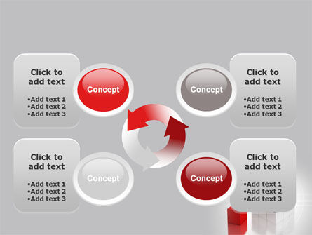 Red Part Of White Cube PowerPoint Template Slide 9
