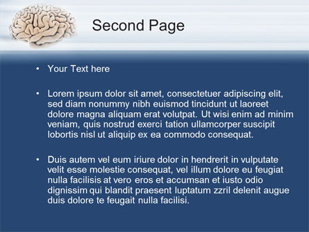 Human Brain Preparation PowerPoint Template, Slide 2, 09833, Medical — PoweredTemplate.com