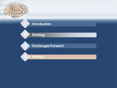 Human Brain Preparation PowerPoint Template, Slide 3, 09833, Medical — PoweredTemplate.com