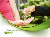 Real Estate: Key Transfer PowerPoint Template #09834