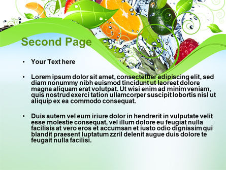 Summer Fruits PowerPoint Template, Slide 2, 09836, Food & Beverage — PoweredTemplate.com