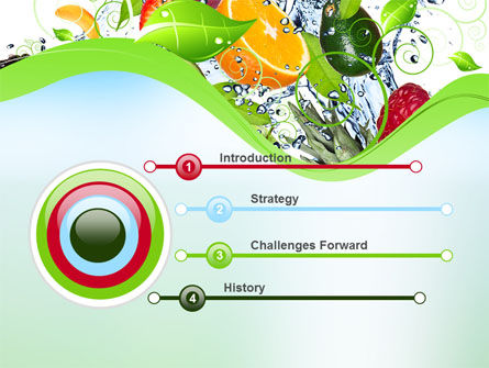 Summer Fruits PowerPoint Template, Slide 3, 09836, Food & Beverage — PoweredTemplate.com