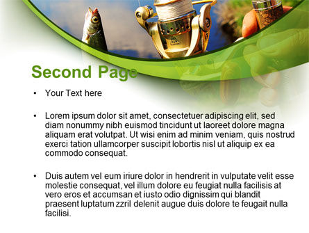 Summer Fishing PowerPoint Template, Slide 2, 09837, Health and Recreation — PoweredTemplate.com
