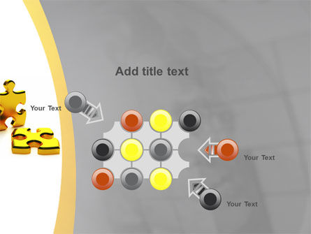 Golden Parts Of Puzzle PowerPoint Template Slide 10
