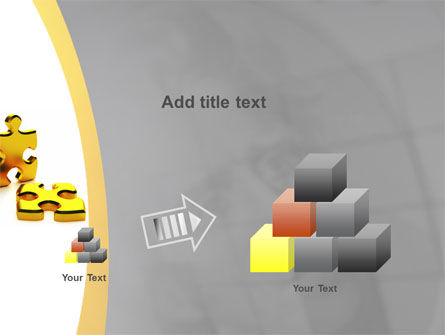 Golden Parts Of Puzzle PowerPoint Template Slide 13