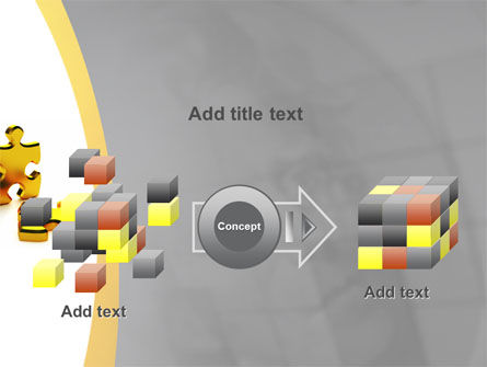 Golden Parts Of Puzzle PowerPoint Template Slide 17