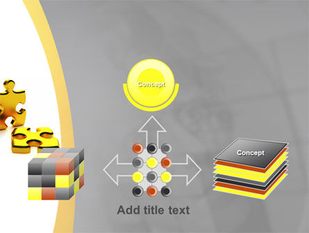Golden Parts Of Puzzle PowerPoint Template Slide 19