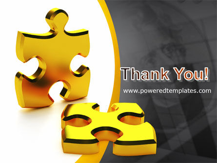 Golden Parts Of Puzzle PowerPoint Template Slide 20