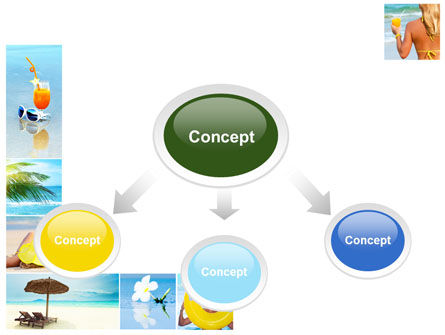 Beach Resort Collage PowerPoint Template, Slide 4, 09842, Health and Recreation — PoweredTemplate.com