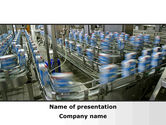 Careers/Industry: Packing Line PowerPoint Template #09844