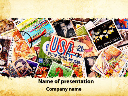 Philatelism PowerPoint Template, 09846, Flags/International — PoweredTemplate.com