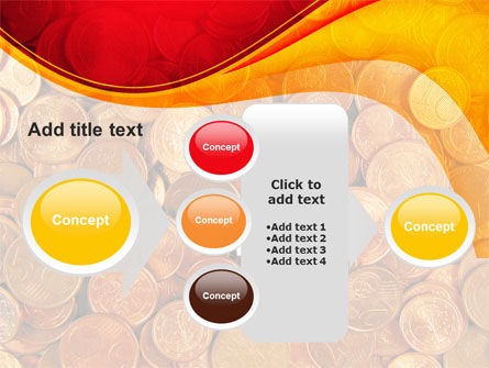 A Pile Of Gold Coins PowerPoint Template Slide 17