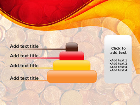 A Pile Of Gold Coins PowerPoint Template Slide 8