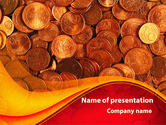 A Pile Of Gold Coins PowerPoint Template#1