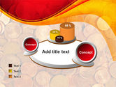A Pile Of Gold Coins PowerPoint Template#16