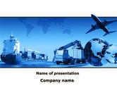 Cars and Transportation: Modèle PowerPoint de service de livraison sur la mer la terre et l'air #09848