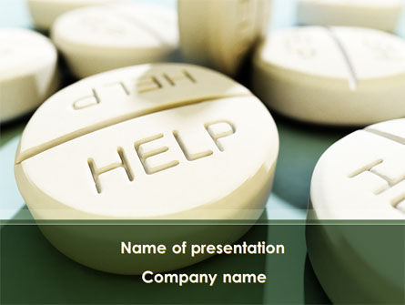 Medical: Emergency Medicamental Help PowerPoint Template #09849