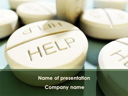 Emergency Medicamental Help PowerPoint Template, 09849, Medical — PoweredTemplate.com