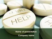 Medical: Emergency Medicamental Help PowerPoint Template #09849