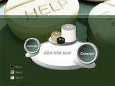 Emergency Medicamental Help PowerPoint Template#6
