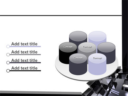 Black Polished Stone Cubes PowerPoint Template Slide 12