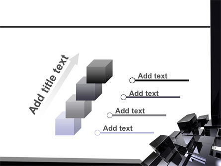 Black Polished Stone Cubes PowerPoint Template Slide 14