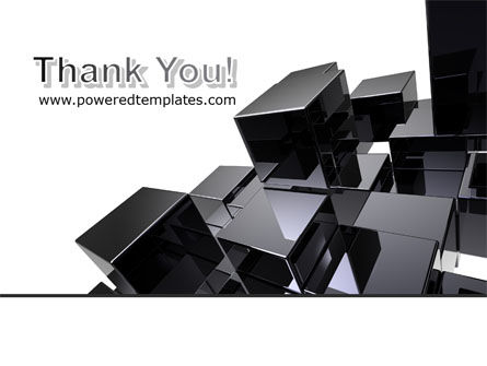 Black Polished Stone Cubes PowerPoint Template Slide 20
